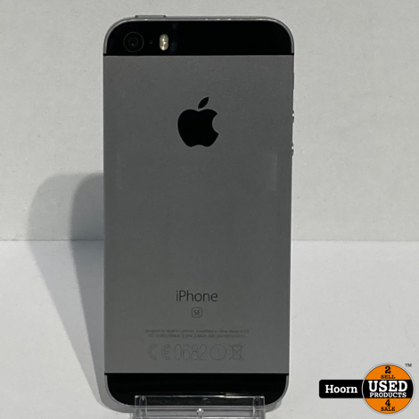 iPhone SE 16GB Space Gray Los Toestel incl. Lader Accu: 90%