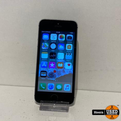 iPhone SE 16GB Space Gray Los Toestel incl. Lader Accu: 91%