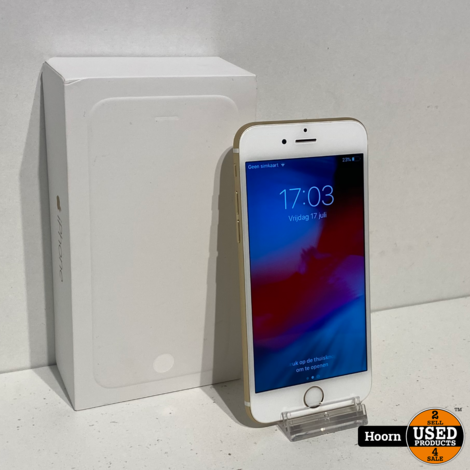 iPhone 6 64GB Gold in Doos incl. Lader Accu: 91%