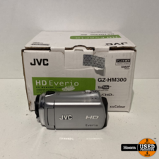 JVC JVC GZ-HM300 Full HD Videocamera Compleet in Doos incl. Lader