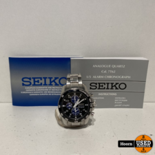 Seiko Seiko Sportuna Chronograph 7T62-0KV0 Horloge met Boekjes en Extra Schakels
