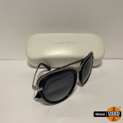 NINA RICCI Blue & Silver Fashion Zonnebril in Koker