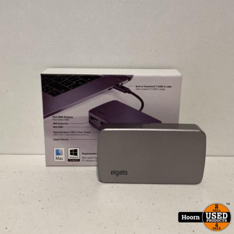 Elgato Thunderbolt 3 Mini Dock met ingebouwde Thunderbolt-kabel, 40 Gb/s, dubbele 4K-ondersteuning, USB 3.1 Gen 1, Gigabit Ethernet in Doos