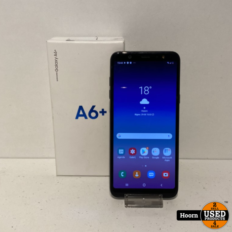 Samsung Galaxy A6 Plus 2018 32GB DUOS Black in Doos incl. Lader