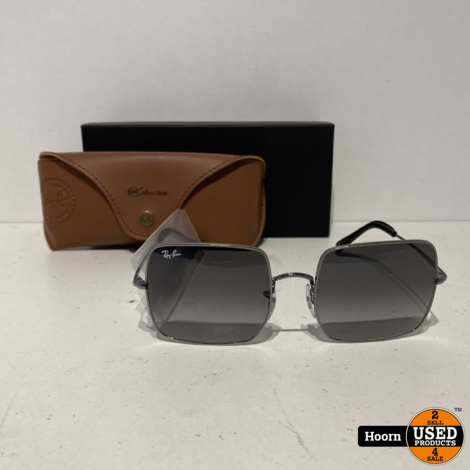 RayBan Square RB1971 004/71 54/19 Black Zonnebril ZGAN Compleet