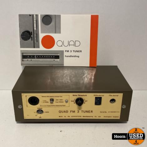 Quad FM 3 Tuner incl. Boekje en Exclusief Netsnoer