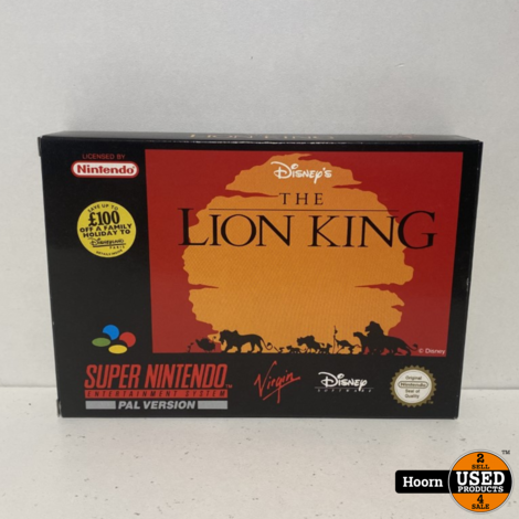 Super Nintendo SNES Game: the Lion King Compleet in Doos
