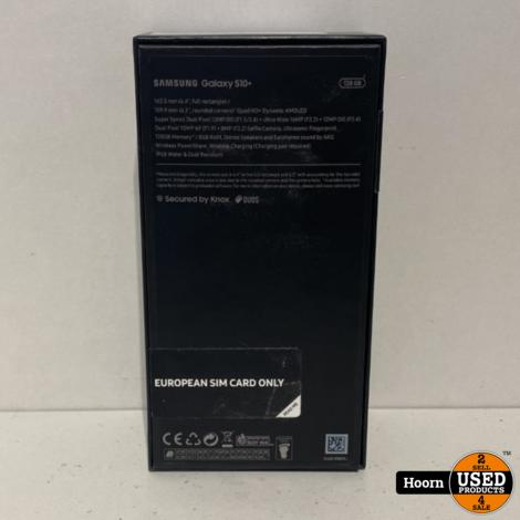 Samsung Galaxy S10 Plus 128GB Prism White in Doos incl. Lader