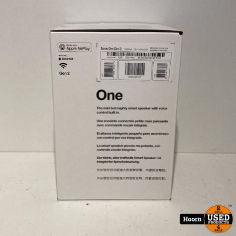 Sonos One (Gen 2) Wit Draadloze WiFi Speaker Nieuw in Doos