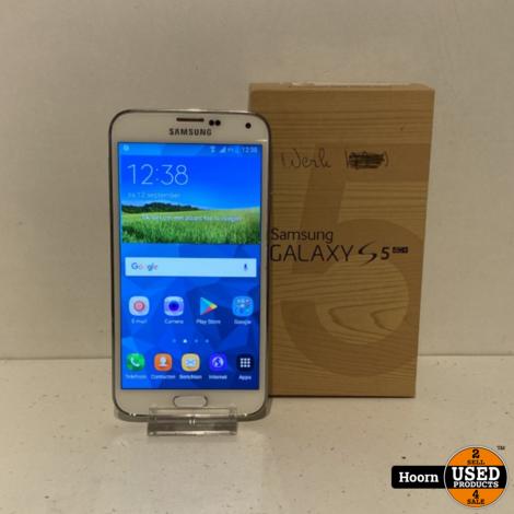 Samsung Galaxy S5 16GB Wit in Doos incl. Lader