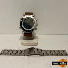 Yes Inca World Watch Horloge met Stalen en Leren Band