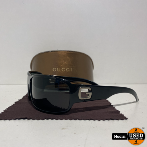 Gucci 1583/S Dames Zonnebril Zwart in Koker