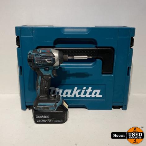 Makita DTD154 Slagschroevendraaier incl. 18V 5.0Ah Accu in Mbox