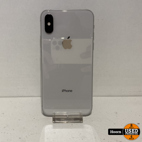 iPhone X 64GB Silver Los toestel incl. Lader Accu: 89%