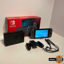 Nintendo Switch Versie 2 Grijs ZGAN Compleet in Doos