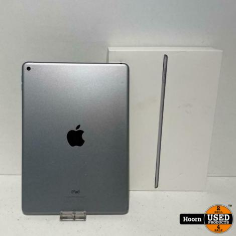 iPad Air 2 16GB Wifi Space Gray in Doos met Lader (Barstje in Scherm Links Onder)
