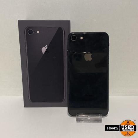 iPhone 8 64GB Space Gray Compleet in Doos Accu: 100%