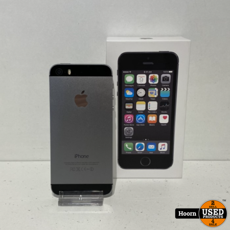 iPhone 5S 32GB Space Gray in Doos incl. Lader