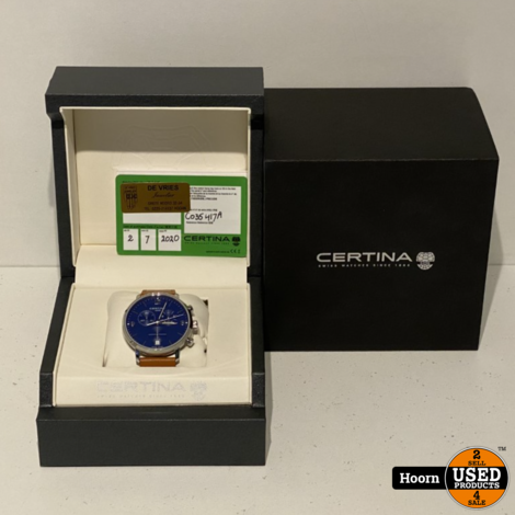 Certina DS Caimano C0354171604700 Heren Horloge ZGAN Compleet in Doos
