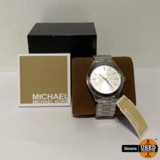 Micheal Kors Michael Kors MK3178 Dames Runway Horloge 42mm Staal Nieuw in Doos