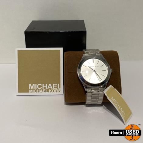 Michael Kors MK3178 Dames Runway Horloge 42mm Staal Nieuw in Doos
