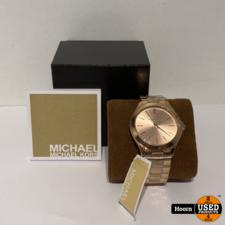 Micheal Kors Michael Kors MK3197 Dames Runway Horloge 42mm Rose Staal Nieuw in Doos