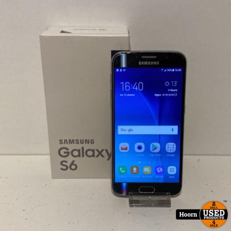 Samsung Galaxy S6 32GB Zwart in Doos incl. Lader