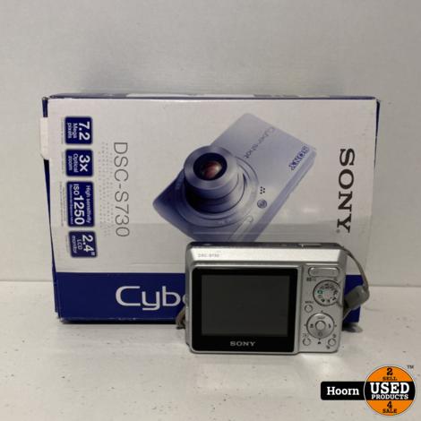 Sony c 7.2MP Digital Camera Silver in Doos