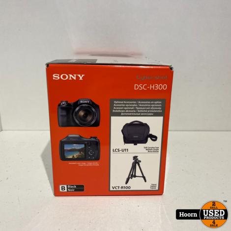 Sony CyberShot DSC-H300 Zwart 20.1MP Compact Camera Nieuw in Doos
