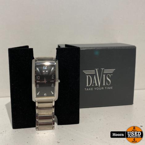 Davis 105512 Heren Horloge Staal In Zeer Nette Staat