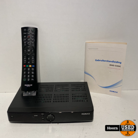 Humax IRHD-5300C/NL Digitale HDTV Ontvanger incl. Afstandsbediening en Boekje