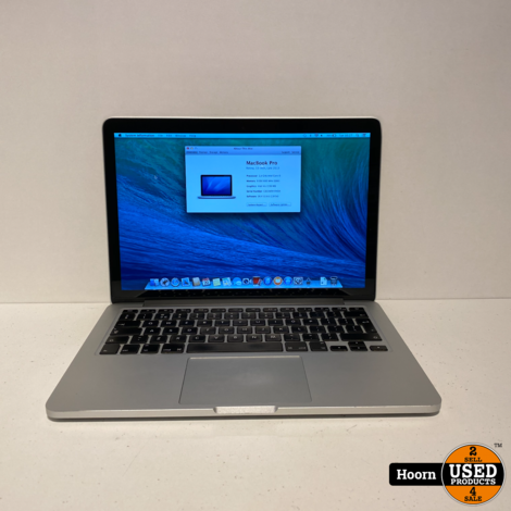 MacBook Pro Retina 13 inch Late 2013 | 2,4GHz i5 | 8GB RAM | 256GB SSD incl. Lader