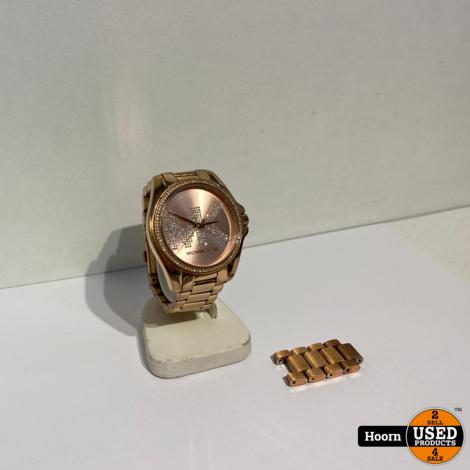 Michael Kors MK-6556 Bradshaw Rose Gold-Tone Horloge incl. extra Schakels.