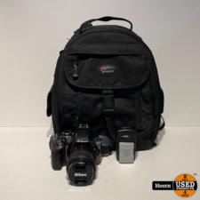 Nikon Nikon D3300 body zwart + AF-S 18-55mm f/3.5-5.6G II DX VR incl. Tas En lader