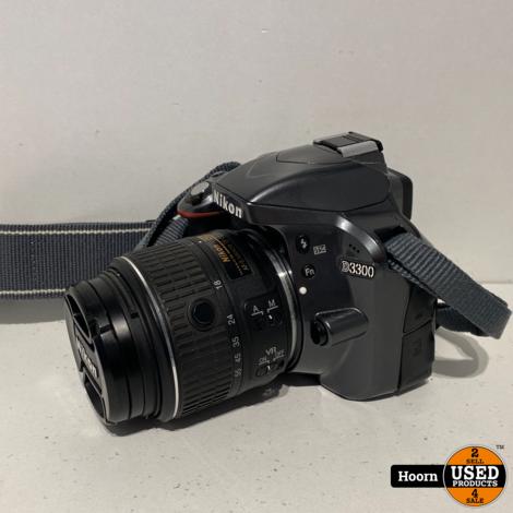 Nikon D3300 body zwart + AF-S 18-55mm f/3.5-5.6G II DX VR incl. Tas En lader