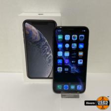 iPhone XR 64GB Black in Doos incl. Lader Accu: 90%