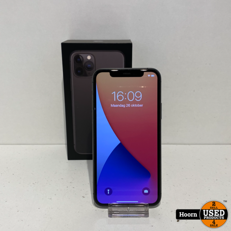 iPhone 11 Pro 64GB Space Gray Compleet in Doos Accu: 93%
