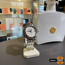 Pequignet Moorea Pequignet Moorea 8860437 244 Quartz 42mm Vintage Heren Horloge Edel Staal in Zeer Nette Staat