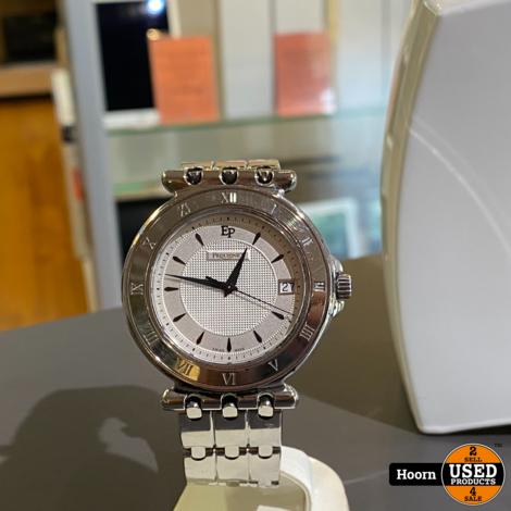 Pequignet Moorea 8860437 244 Quartz 42mm Vintage Heren Horloge Edel Staal in Zeer Nette Staat