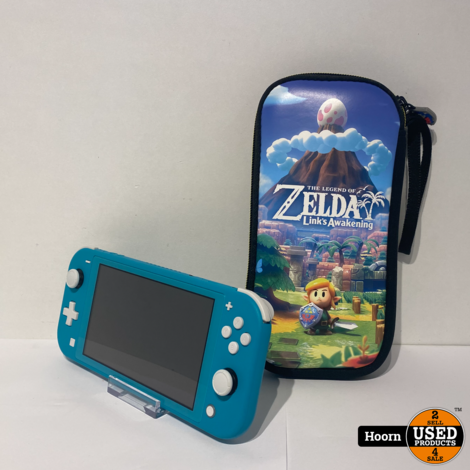 Nintendo Switch Lite Turquoise Incl. Zelda Hoes en Lader