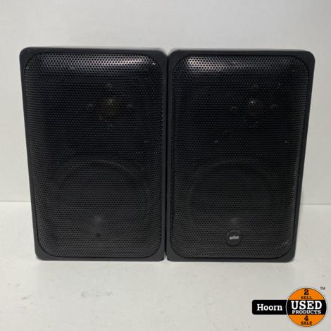 Braun L200 Vintage Speaker Set 50W Zwart