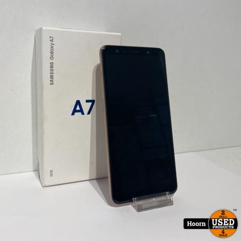Samsung Galaxy A7 2018 64GB Gold Dual-Sim in Doos incl. Lader