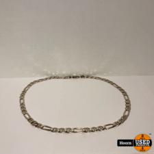 Zilveren Figaro Schakel Ketting 60cm 77GR