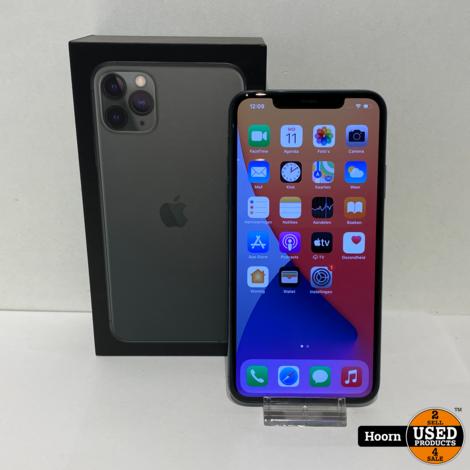 iPhone 11 Pro Max 64GB Midnight Green Compleet in Doos in Zeer Nette Staat Accu: 96%