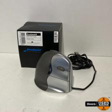 Evoluent Vertical Mouse 4 VM4R Ergonomische Muis Kabelgebonden Optisch Ergonomisch Zwart, Zilver in Doos