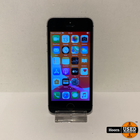 Apple iPhone SE 32GB Space Gray Los Toestel incl. Lader Accu: 93%
