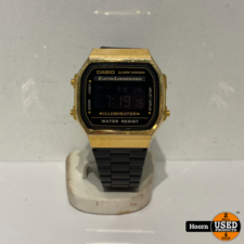 Casio A168WEGB-1BEF Horloge Digitaal Goud/Zwart