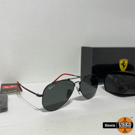 Ray-Ban RB8125M Aviator Black Titanium Scuderia Ferrari Collection Limited Edition Italia Zonnebril Nieuw F05758 58/14