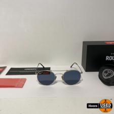 Ray-Ban RB8147M Round Silver Titanium Polarized Zonnebril Nieuw 9165 50/21