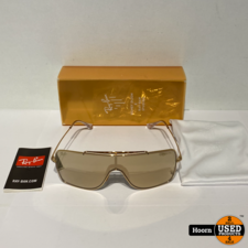 Ray-Ban Ray-Ban Honey Dijon Wings II RB-3697-K 24K Gold Plated Zonnebril Nieuw 9094/03